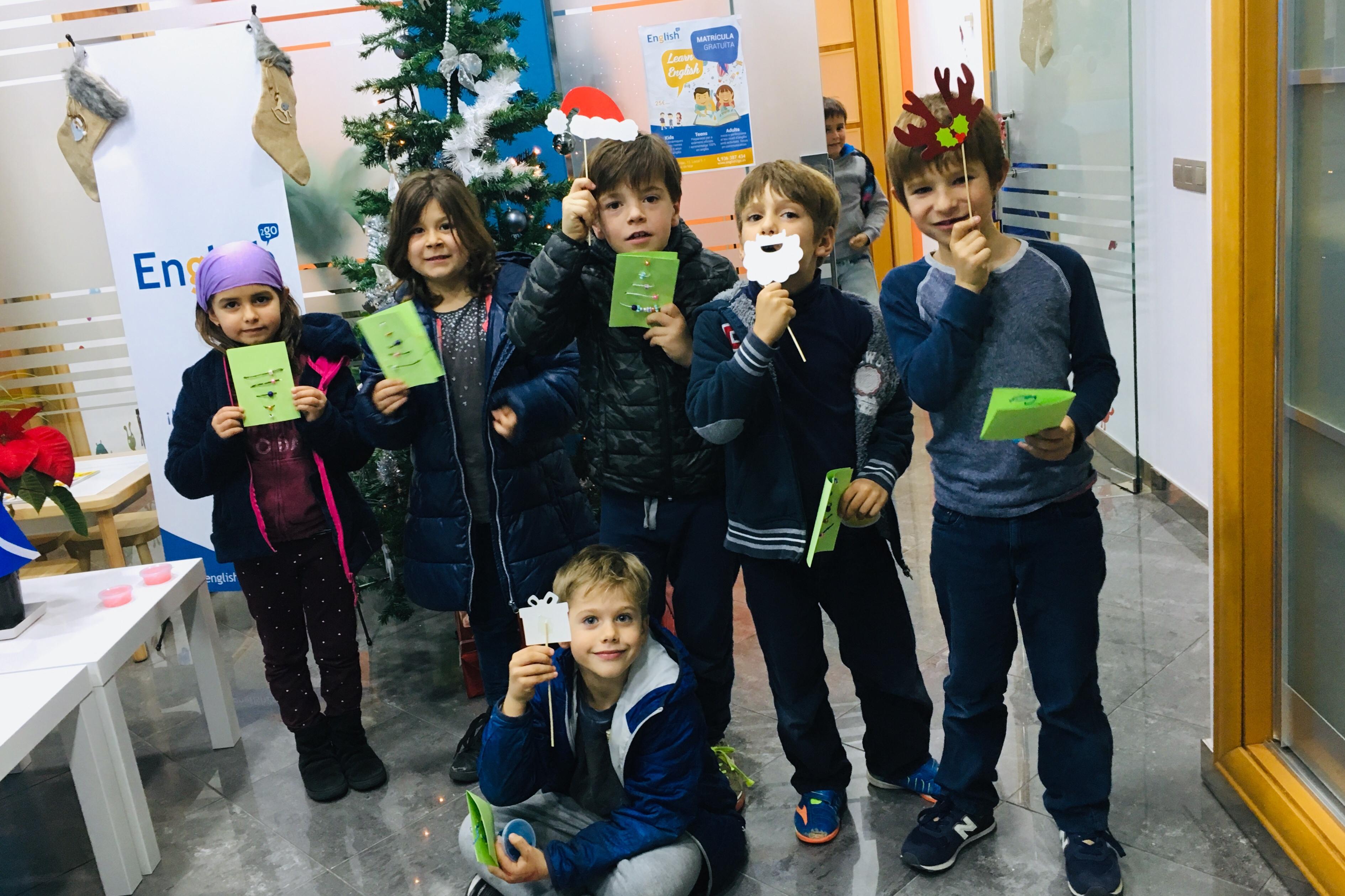 Fent postals de nadal i slime amb els més petits